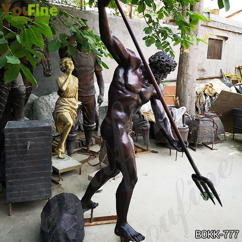 Famous Greek Bronze Life Size Poseidon Statue