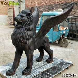High Quality Bronze Flying Lion Metal Sculpture for Sale BOKK-654
