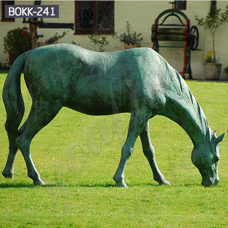 Outdoor Antique Bronze Life Size Horse Statues from Factory Supply