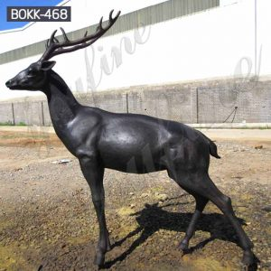 Outdoor Antique Life Size Bronze Deer Statue for Sale BOKK-468