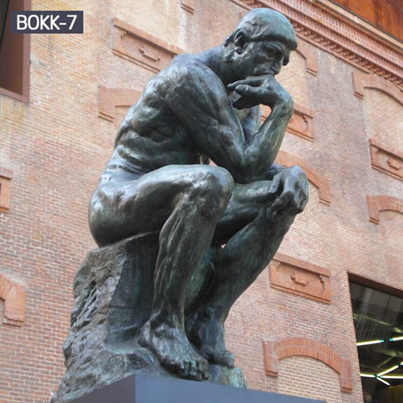 famous bronze statue the thinker statue
