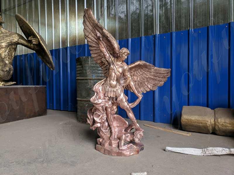 famous st michael statue