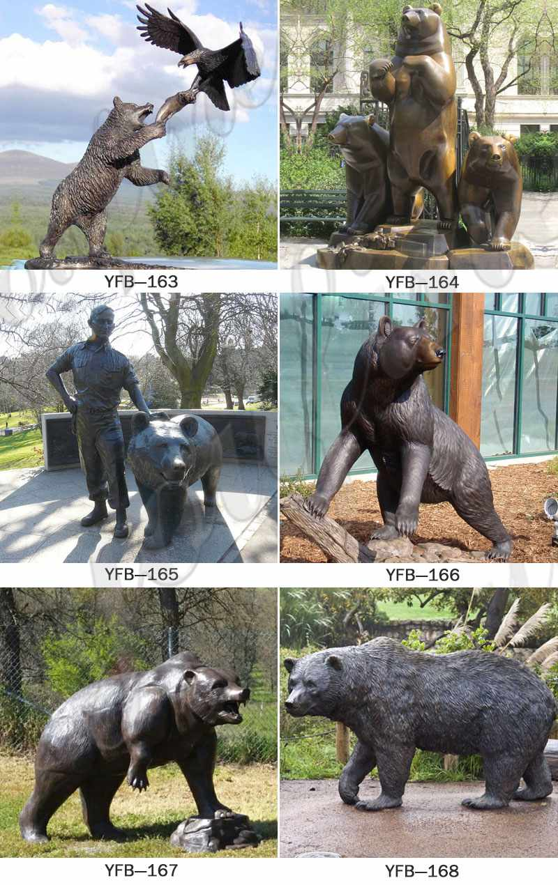 life size bear statues for sale