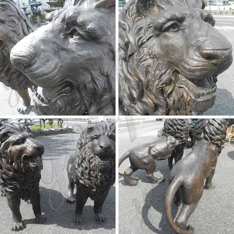 life size bronze lion statues on sale