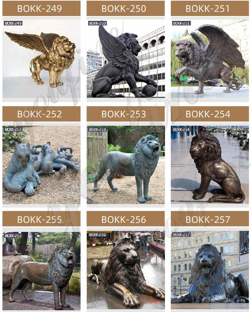 more bronze lion statues for sale