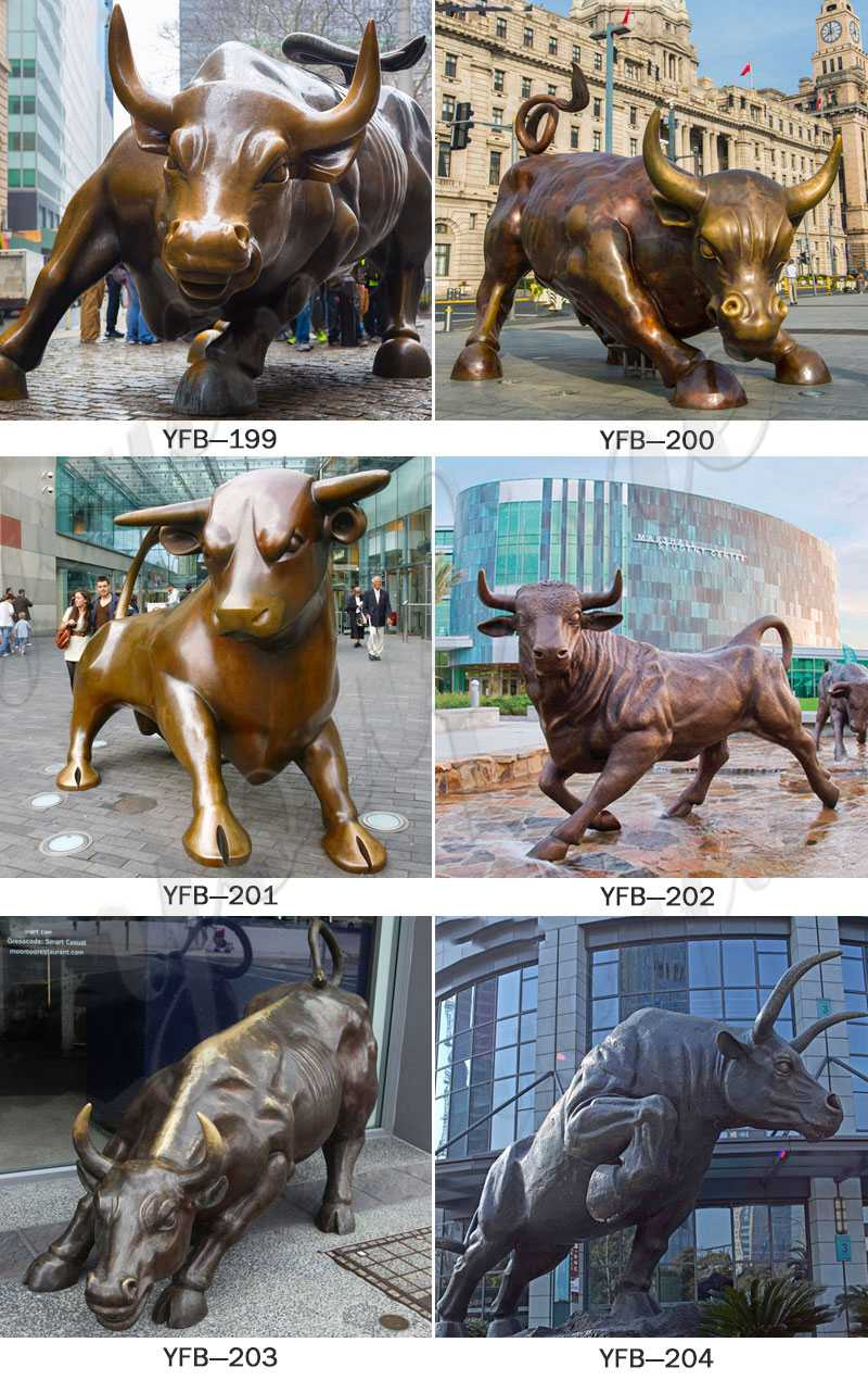 Garden Large Bronze Strong Bull Sculpture for Sale