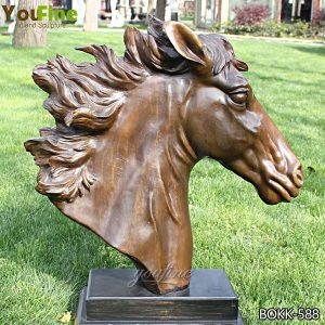 Bronze Horse Head Sculpture Art for Sale BOKK-588