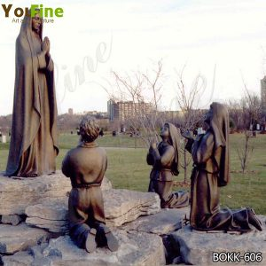 Outdoor Religious Bronze Fatima and Three Children Statues BOKK-606