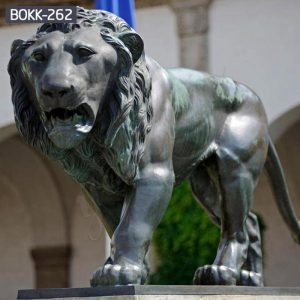 Antique Bronze Guardian Walking Lion Statue for Sale BOKK-262