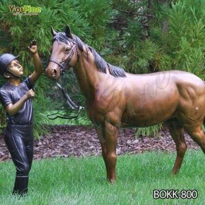 Antique Bronze Horse and Knight Statue Factory Supply BOKK-800
