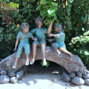 Bronze Children Garden Statue for Garden Decor BOKK-787