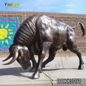 Outdoor Bronze Life Size Bull Statue for Sale BOKK-791