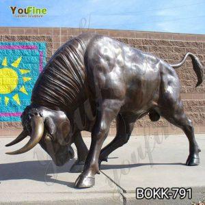 Outdoor Bronze Life Size Bull Statue for Sale BOKK-791