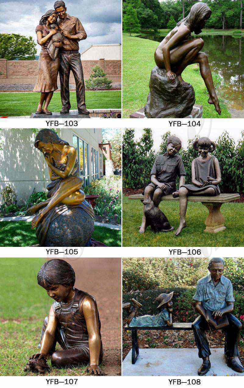 Bronze Statue of Children