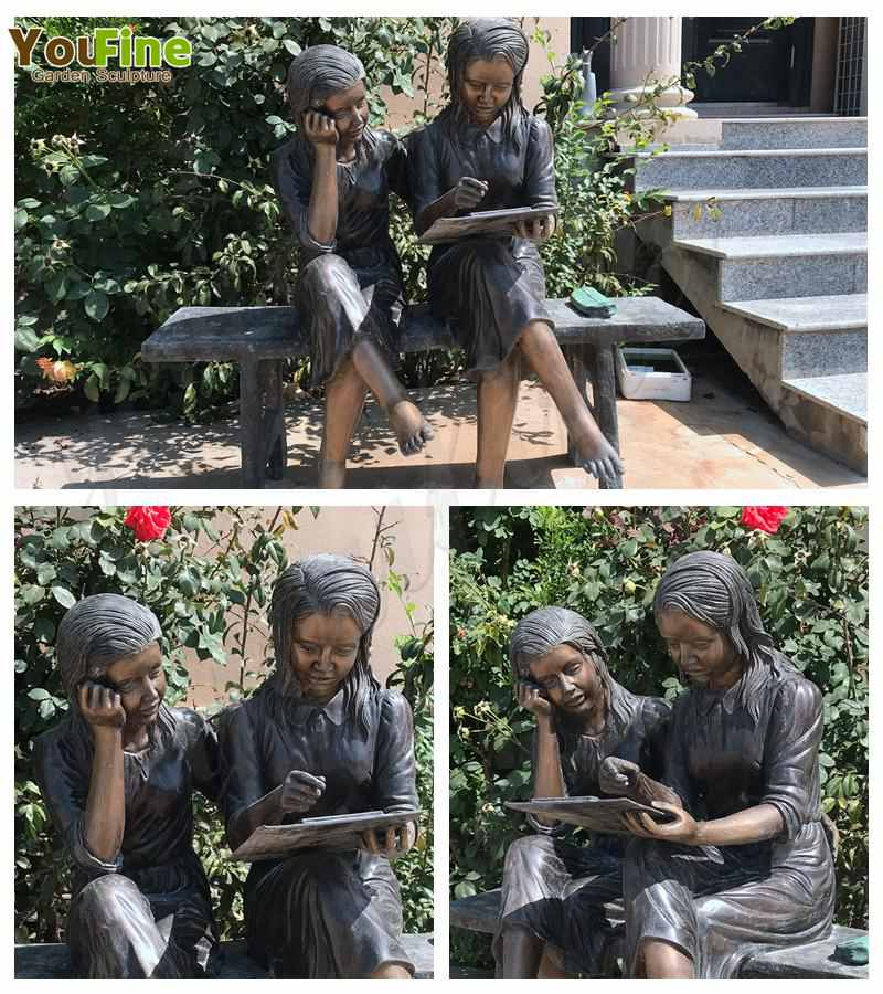 Casting Bronze Sisters Garden Statue Factory