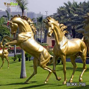 Various Styles Life Size Bronze Horse Statues for Sale BOKK-798