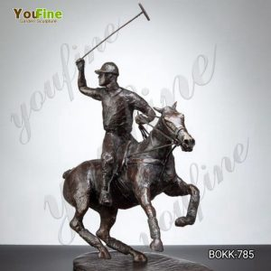 Life Size Bronze Polo Player on Horse Statue for Sale BOKK-786