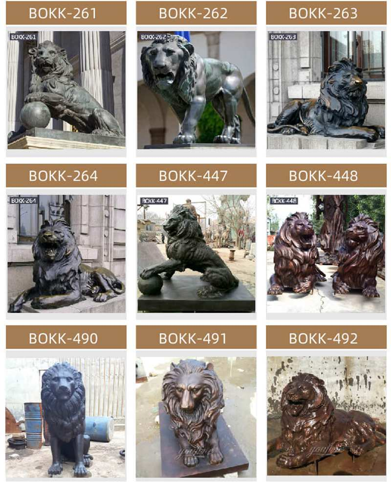 Outdoor Guardian Bronze animal statue