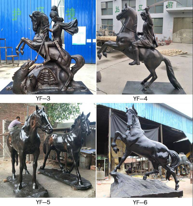 antique-bronze-life-size-horse-statues-for-sale