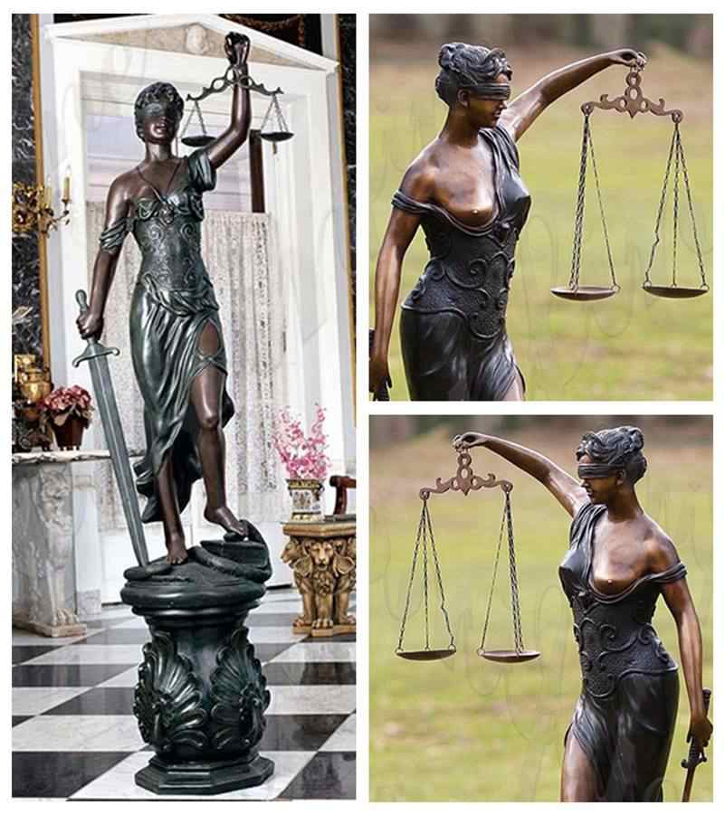 Bronze Goddess of Justice Themis Sculpture for Sale