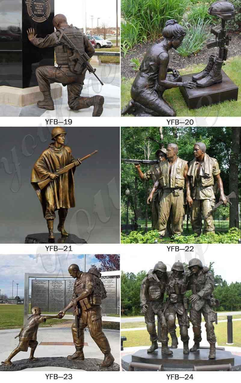 Bronze Memorial Soldier Statue