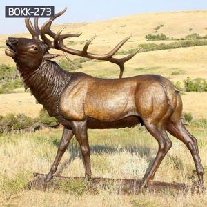 Buy Full Size Bronze Elk Statue for Garden Decor Supplier BOKK-273