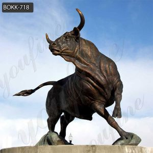 Life Size Cast Bronze Bull Sculpture for Large Stock BOKK-718