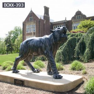 Outdoor Full Size Bronze Tiger Statue for Sale BOKK-393