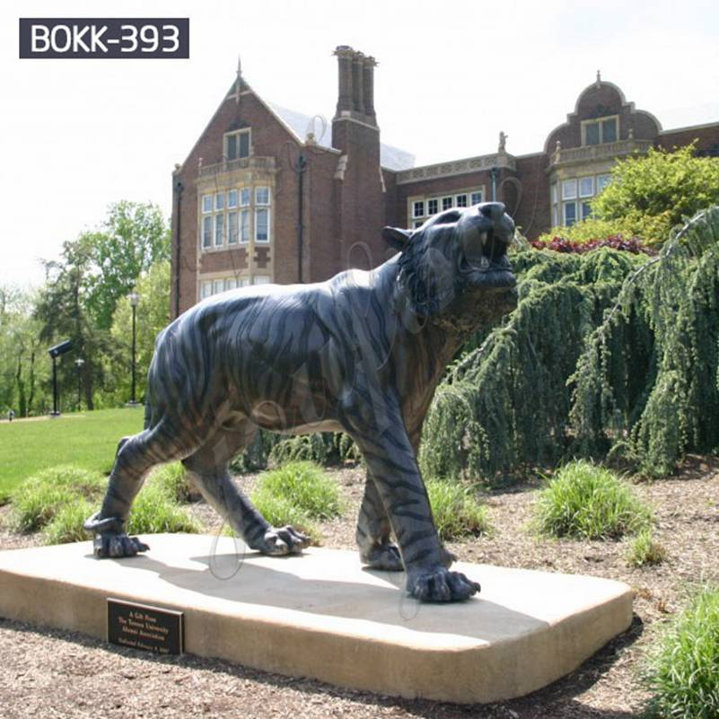 Outdoor Full Size Bronze Tiger Statue for Sale