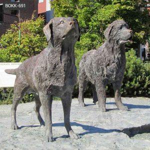 Antique Black Bronze Newfoundland Dog Statue Manufacturers BOKK-691
