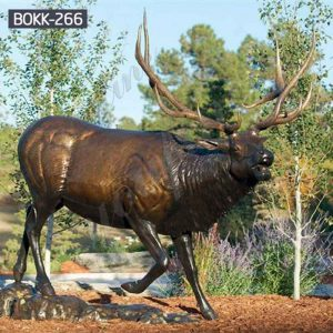 Antique Bronze Metal Elk Outdoor Deer Statue on Sale BOKK-266
