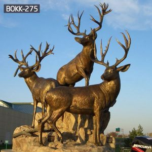 Antique Bronze Stag Statues Garden Ornament Design for Sale BOKK-275