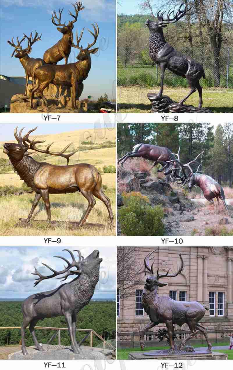 Bronze Stag Statues Garden Ornament Design for Sale