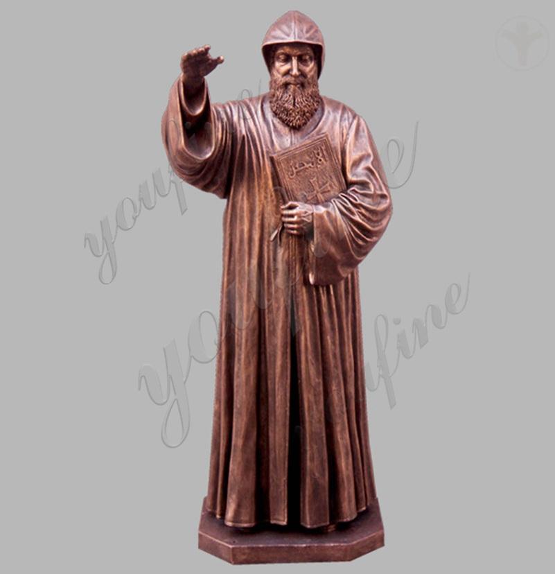 Bronze religious saint charbel outdoor garden life size statues for sale