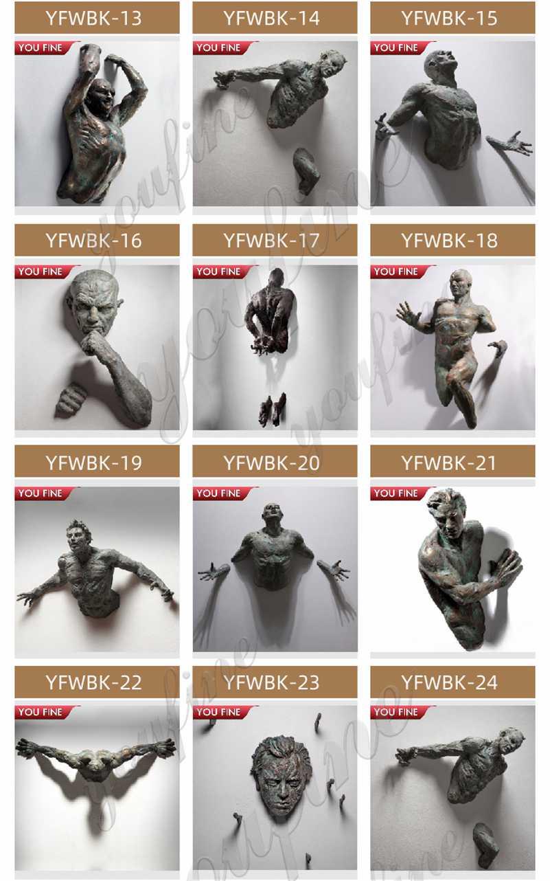 Contemporary Matteo Pugliese Bronze Metal Wall Sculptures