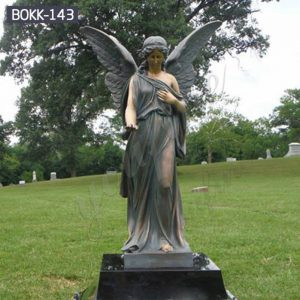 Life Size Bronze Female Angel Statue for Garden Decor Suppliers BOKK-143