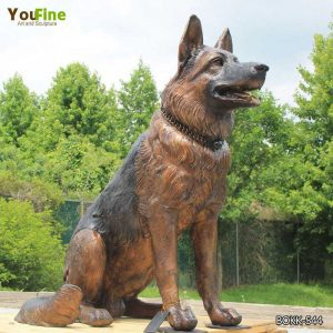 Life Size Bronze German Shepherd Memorial Statue on Sale BOKK-544