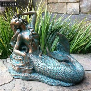 Life Size Brozne Mermaid Statue for Garden Decor on Discount BOKK-706