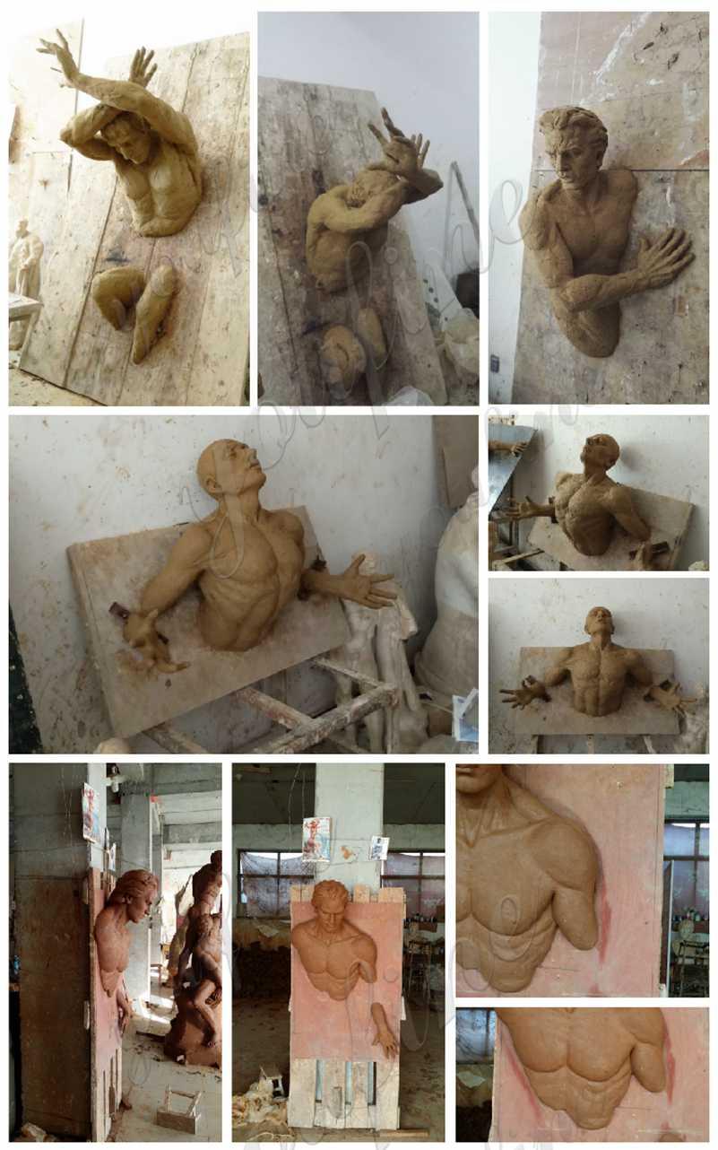 Matteo Pugliese Bronze Metal Wall Sculptures for Sale