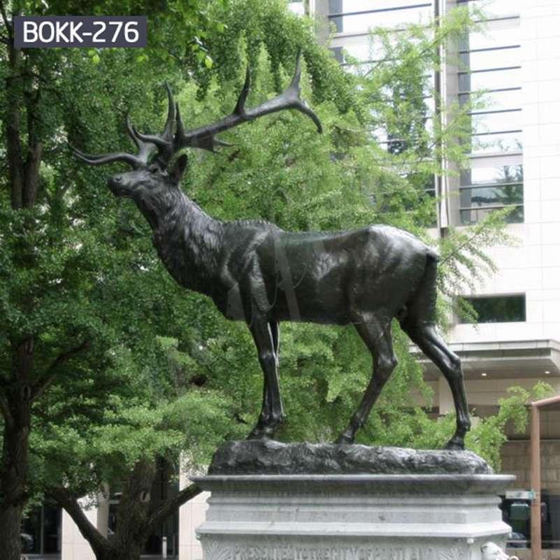 Outdoor Antique Bronze Elk Garden Statue Suppliers