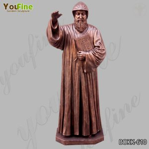 Outdoor Life Size Bronze Saint Charbel Statue for Sale BOKK-610