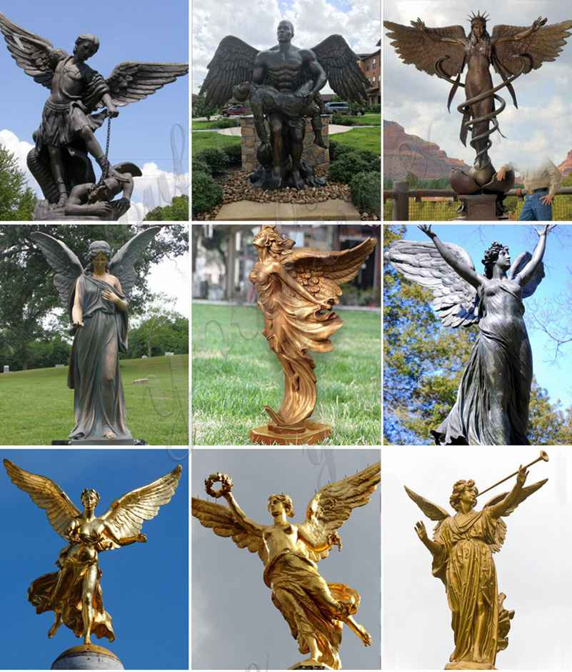bronze garden statues angel