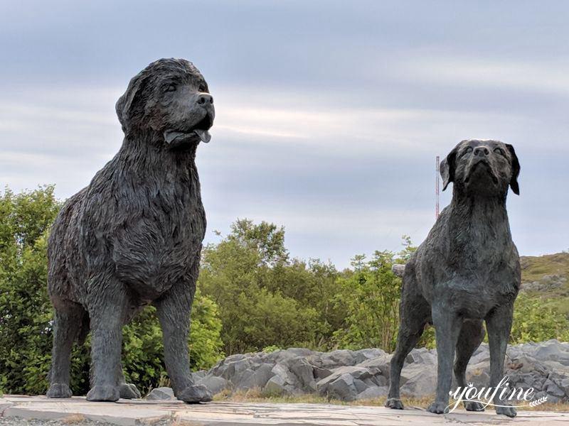newfoundland dog statue