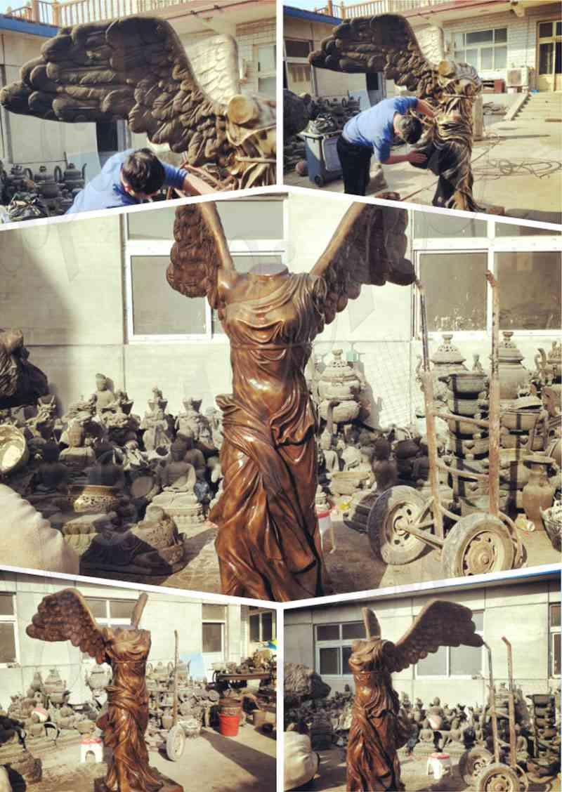 Antique Bronze Goddess of Victory Statu