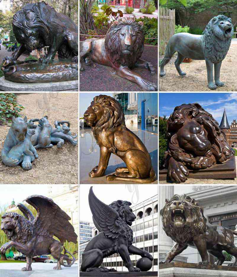 Antique Bronze Lion Statue for Driveway Suppliers