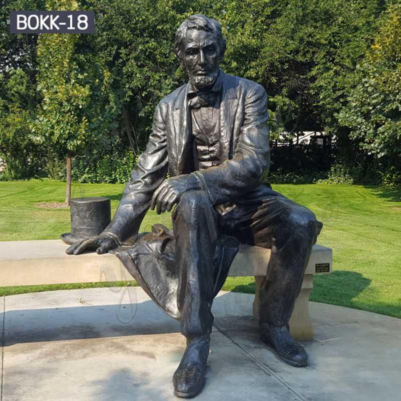 Antique Life Size Bronze Abraham Lincoln Statue Replica for Sale