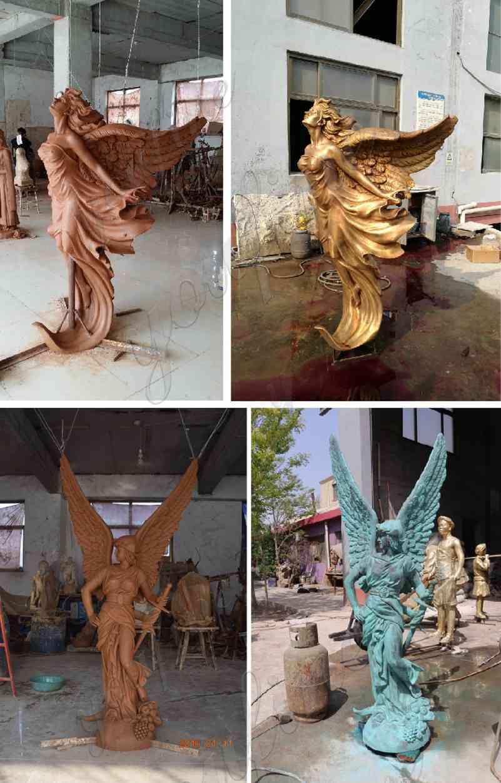 Bronze Life Size Angel Statue for Outdoor Garden