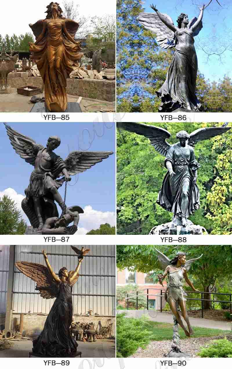 Bronze garden angel statues