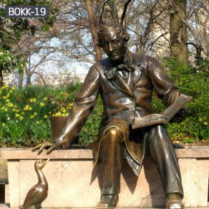 Casting Bronze Statue of Hans Christian Andersen Replica for Sale BOKK-19