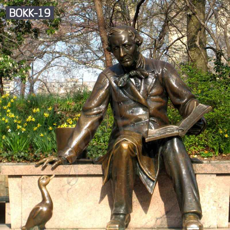 Casting Bronze Statue of Hans Christian Andersen Replica for Sale